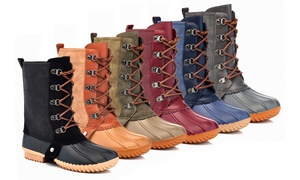 Women's Classic Mid-Calf Waterproof Duck Boots Full Side Zipper 6 colors
