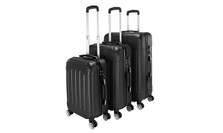 "Luggage 3 Piece Set Suitcase Spinner Hardshell Lightweight 20"" / 24"" / 28"" Was: $169.99 Now: $95.99"