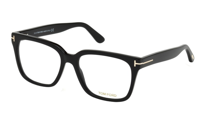 7afff98069fc Tom Ford Eyeglasses FT5477-001 58 Shiny Black Frame / Demo Lenses | Groupon