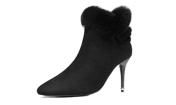 Women's Zipper Stiletto Heel High Heels