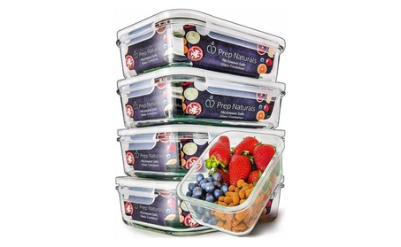 Glass Meal Prep Containers - Food Prep Containers with Lids Meal Prep