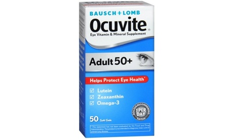 Bausch Lomb Ocuvite Adult 50 Plus Vitamin & Mineral Supplement 50