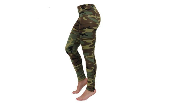 Womens High Performance Camo Leggings