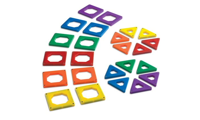 Discovery kids 39 magnetic tile set 24 piece livingsocial for Discovery 24 shop