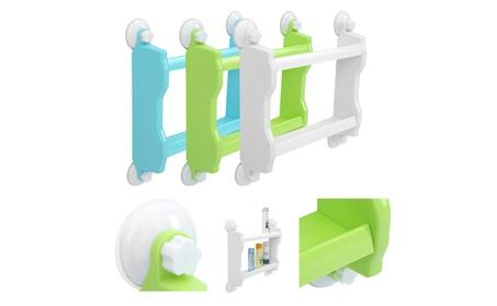 2 Layer Bathroom Corner Storage Rack Organizer Shower Shelf Plastic d212bd0f-bcff-466d-a784-dc07878eddc0