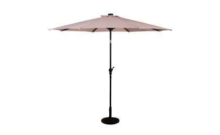 10FT Patio Solar Umbrella LED Patio Market Steel Tilt W/ Crank Outdoor 2e59ba4a-372e-40fb-bca0-4a6e84457ee1