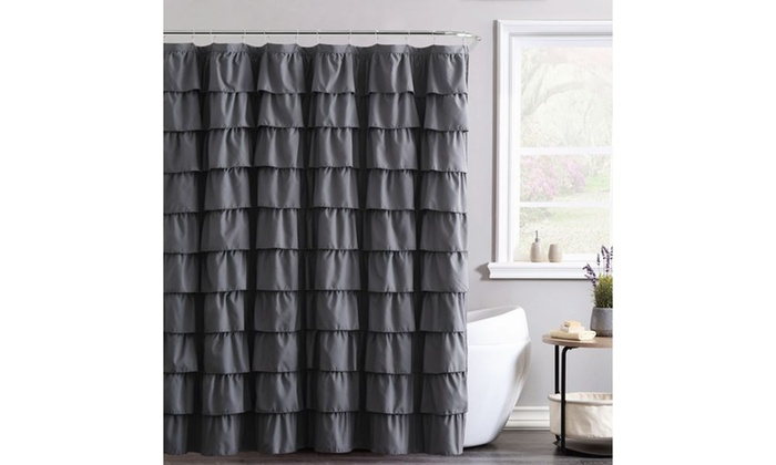 Geneva Home Fashion Ruffle Or Pintuck Shower Curtain