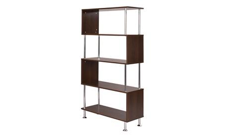 """32""""x12""""x58"""" 4 Shelf Bookcase Wooden Bookshelf Storage Display 78158455-dfa6-4e66-8178-3f91568b6d2f"""