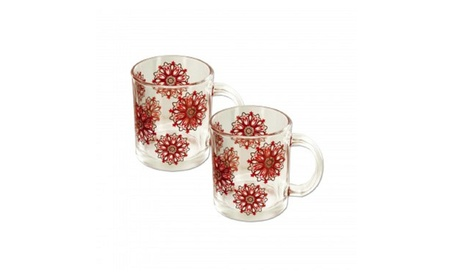 Glass Snowflake Mugs Set 7fa30e3d-b6cf-4200-a019-e62c2c796cae