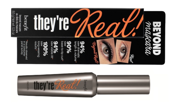 fed29f2fd08 Benefit Cosmetics They're Real! Mascara - Black | Groupon