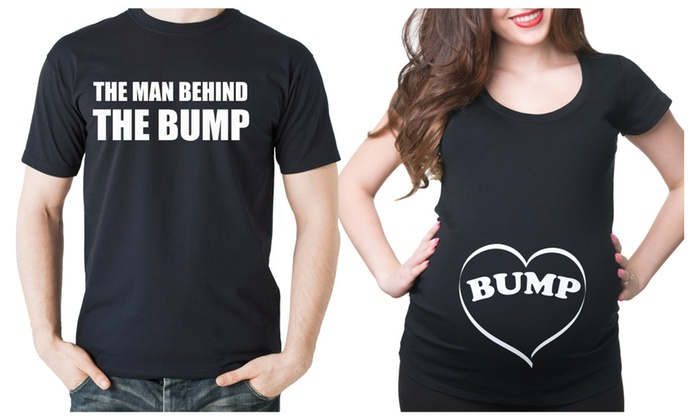 Dad and Mom Maternity Bump T-shirts