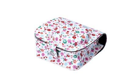 For Fuji Fujifilm Instax Mini8 PU Leather Camera Shoulder Strap Bag Case Pouch
