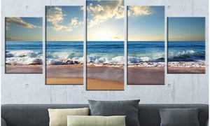 Seashore Photography on Gallery-Wrapped Canvas