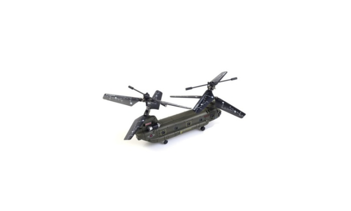 Mini Chinook Rc Helicopter with Gyro Syma S026G 3 Ch Remote Control