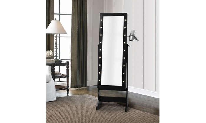 Inspired Home Isabella Marquee Armoire Jewelry Storage Organizer ...