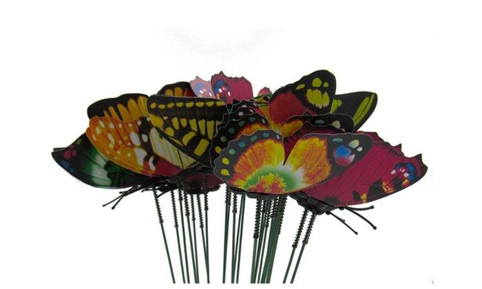Butterfly Garden Metal Stake 24 Piece Patio Lawn Yard Art Decor Set ...