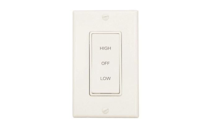 Air Vent 58030 2-Speed Rocker Whole House Fan Switch, White