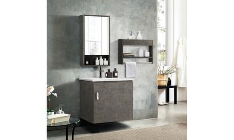 Costway Modern Wall-Mounted Bathroom Vanity Sink Set