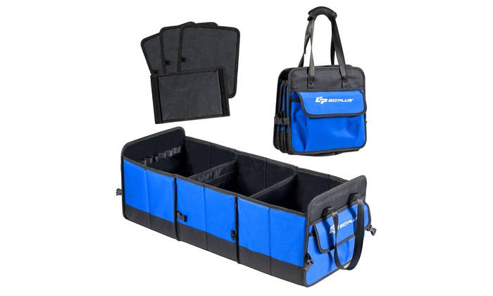 Perfect for Any Car SUV Trunk Size Collapsible Storage Box Homeve Car Trunk Organizer Blue
