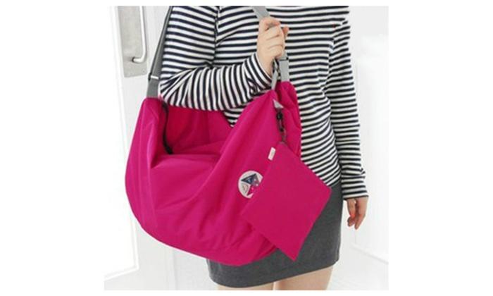 Folding  Women's  Shoulder bag  Nylon  Waterproof  Portable  Handbag
