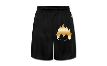 Men's Dragon Ball Z Vegeta Gold Logo Gym Shorts 0a74ebcb-5562-45c9-8263-5d05d0f378d1