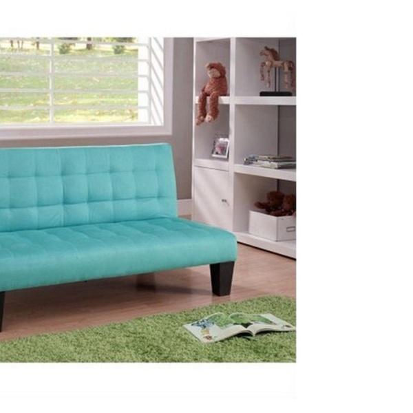 Incredible Dhp Ariana Microfiber Junior Convertible Sofa In Teal Ibusinesslaw Wood Chair Design Ideas Ibusinesslaworg