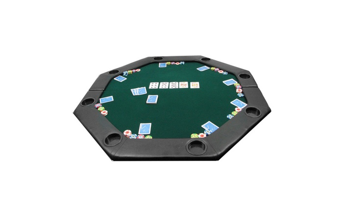 51 X 51 Inch Octagon Padded Poker Tabletop Green ...