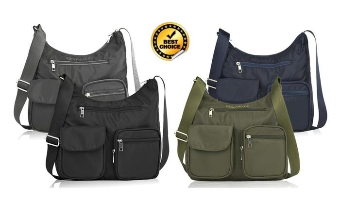 Suvelle Carryall RFID Travel Crossbody Bag Shoulder Organize Purse
