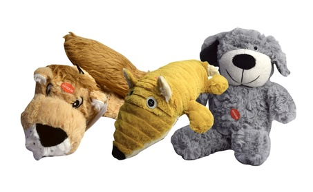 Patchwork Plush Toy Pet With Squeakers & Grunters For Dogs d9fccc73-30b2-4529-aaf2-3f0c3d66f769