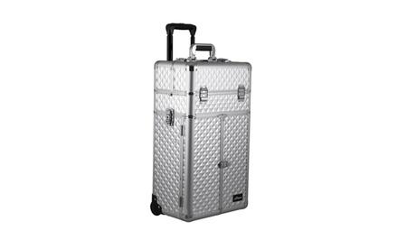 Sunrise Outdoor Travel Silver Diamond Trolley Makeup Case - I3565 5012c7df-d052-462d-9de3-d52f137f9c14