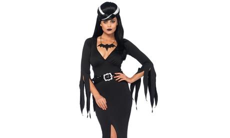 Leg Avenue Women's Immortal Mistress Sexy Deep V Dress Vampire Halloween Costume