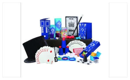 Kids Classic 100 Tricks Magic Show Kit Suitcase Toy Set Video Magician 4418dea2-e6a5-44b8-ad62-00b4336d333f