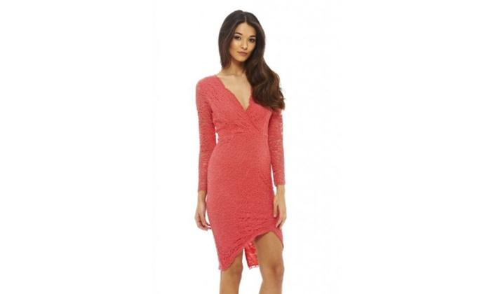 AX Paris Long Sleeve Lace Crochet Dress