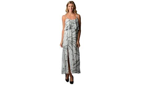 Women's Ruffle Layer Tie Dye Maxi Tank Dress b6bbccef-5fb6-4633-bb75-2e654d68c3fd