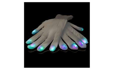 White Gloves LED 6 Flashing Modes Light Up Gloves a113e5fb-a262-4776-af7d-58cee8bbf23d