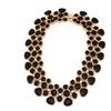 Enamel Drop Glaze Chunky Alloy Bib Collar Choker Necklace for Women