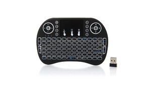 MINI Backlight Wireless Keyboard with Touchpad Black