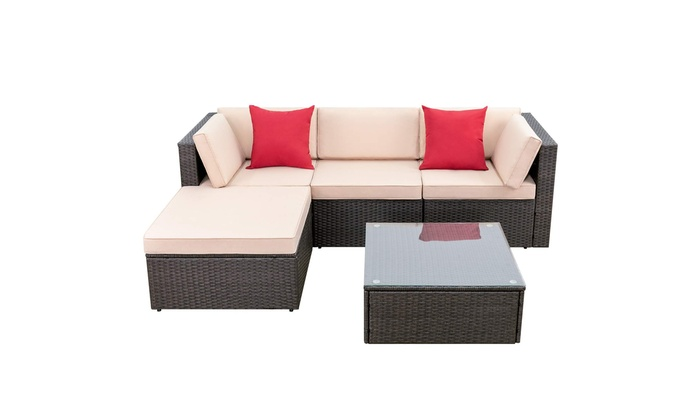 Up To 17 Off On Walnew 5 Pieces Patio