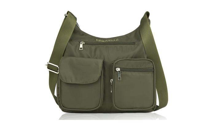 302c02da2 Suvelle Lightweight Carryall Travel RFID Blocking Protection Crossbody  Handbag