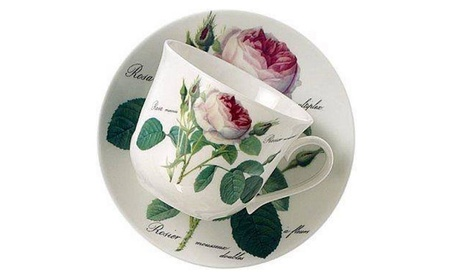 Roy Kirkham Breakfast Cup/saucer - Redoute Rose Set Of 2 e84b6a0c-5cdd-4595-9316-38d4414a8f28
