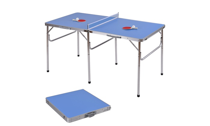 60u0027u0027 Portable Table Tennis Ping Pong Folding Table W/Accessories ...
