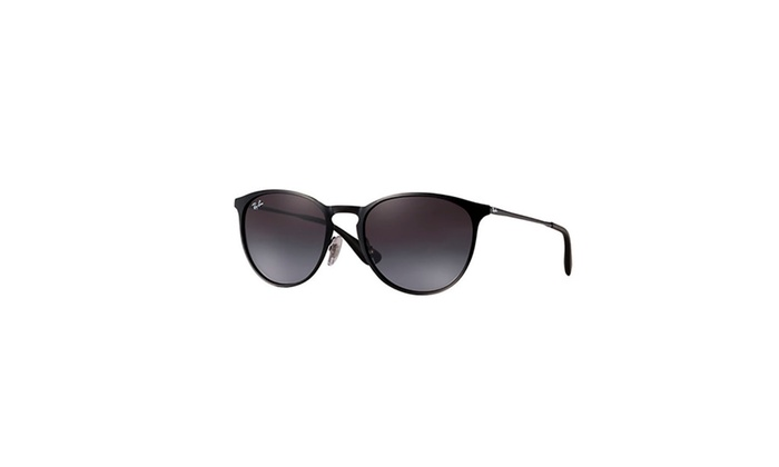 32fc6ff904dee Ray-Ban Erika Sunglasses with Metal Black Frames   Grey Gradient ...