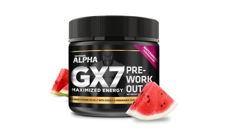Alpha Gx7 Pre-workout - Maximized Energy - For Workouts 245g