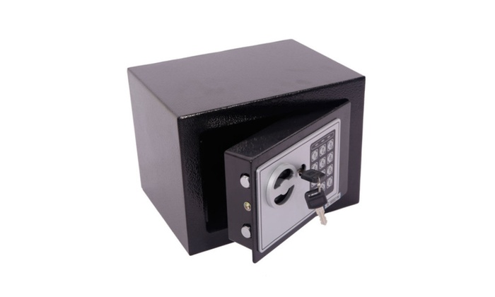 Small Black Steel Digital Electronic Safe Coded Box