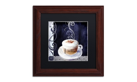 Color Bakery 'Cafe Blue II' Matted Wood Framed Art cd7e70f4-a033-4dc6-88a6-2b3cf9a97290