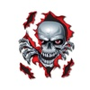 6 X 8 Inch Decal Skull