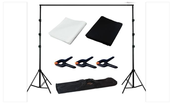 photo studio black white backdrop background photography stand