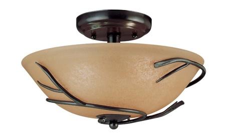 Kenroy Home 90906BRZ Twigs Flush Mount- Bronze Finish a6a0c993-c918-4c75-bec3-c3d761b81ea2