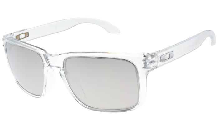 dc66d6cf16 Oakley Holbrook Sunglasses OO9102-06 Polished Clear Frame W  Chrome Iridium  Lens Polished Clear UV O-Matter™