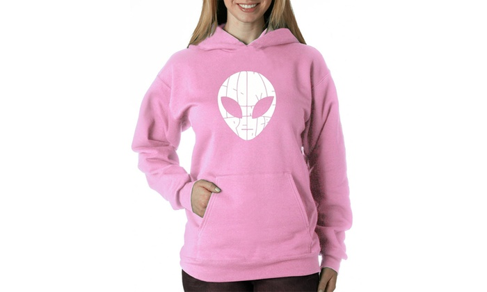 Women's Hooded Sweatshirt -I COME IN PEACE